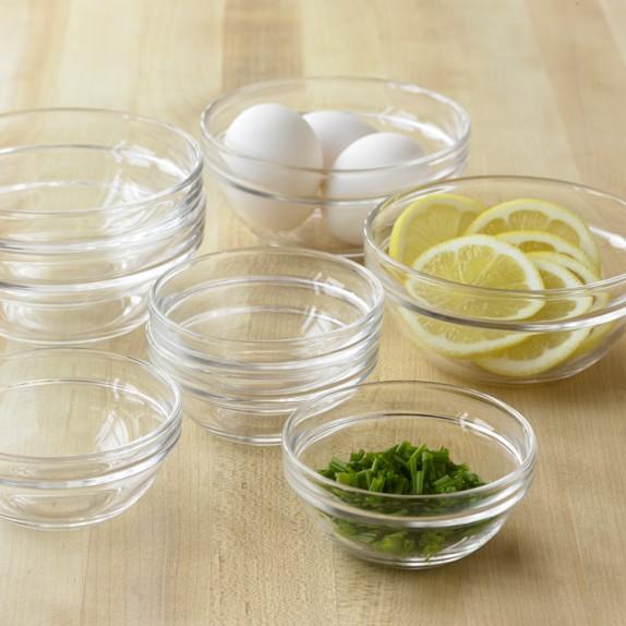 Glass Prep Bowls, Set of 8 | Williams-Sonoma