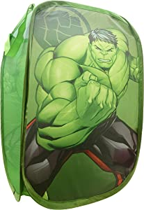 "Jay Franco Marvel Avengers Hulk Blast Pop Up Hamper - Mesh Laundry Basket/Bag with Durable Handles, 22"" x 14"" (Official Marvel Product)"