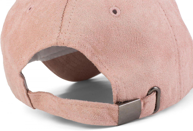 Unisex 04023049 styleBREAKER 6-Panel Cap in Veloursleder Wildleder Optik Baseball Cap verstellbar