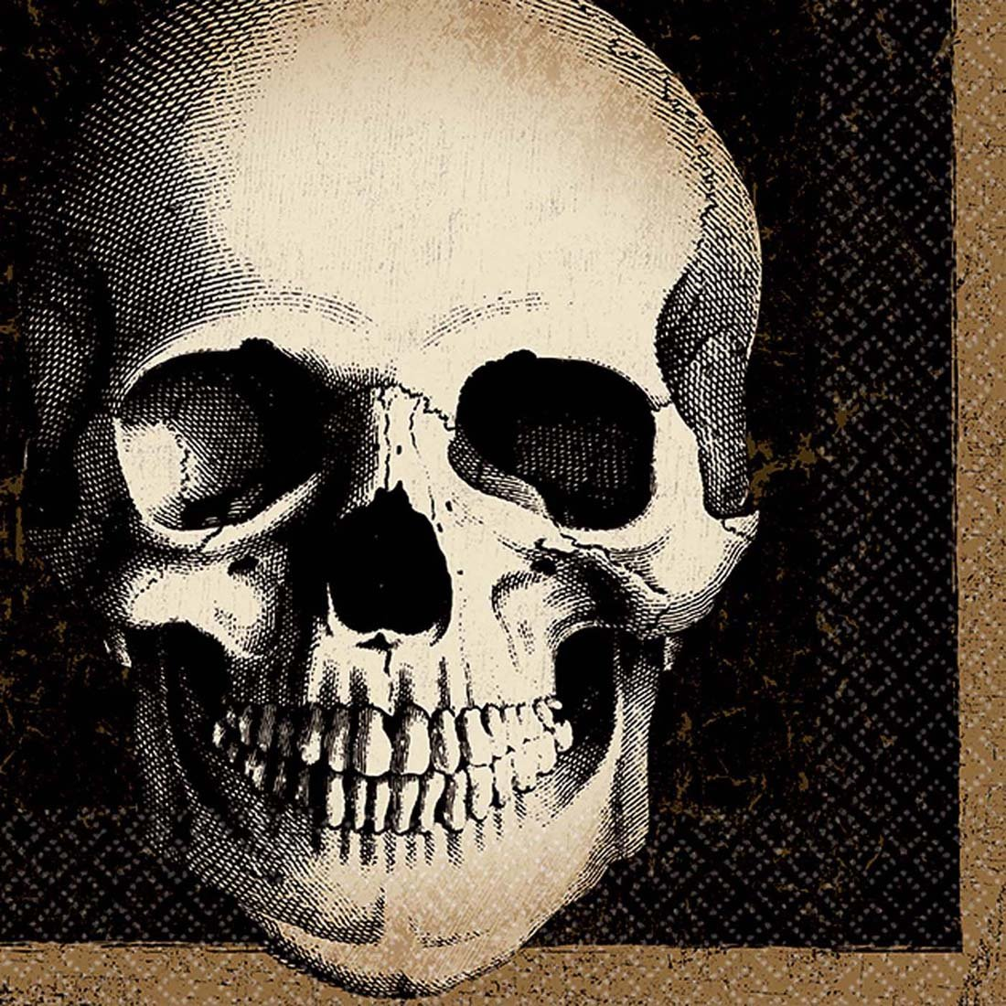 Boneyard Skull Beverage Napkin by amscan