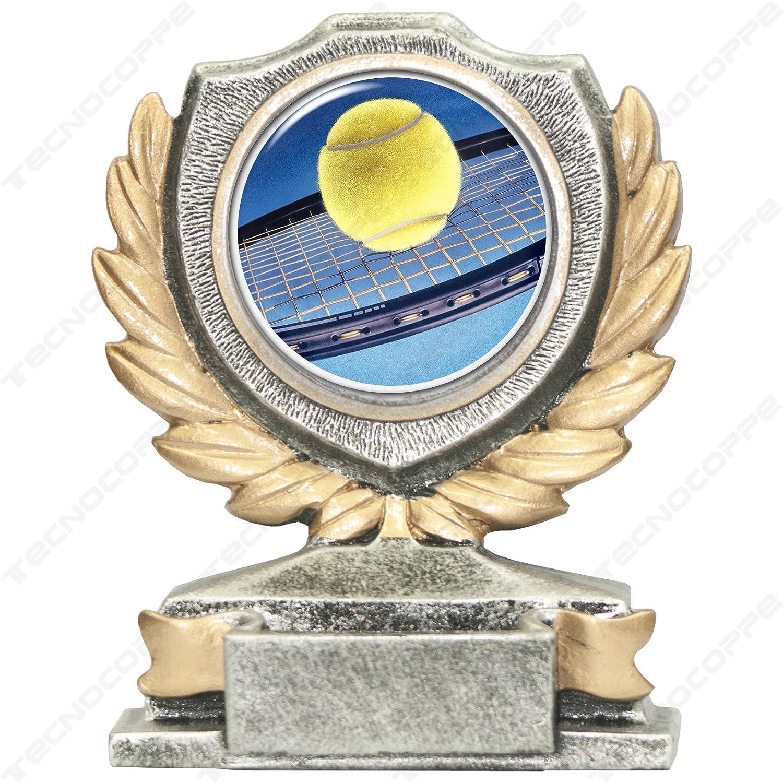 Trophée tennis H 12, 00cm la plaque personnalisée est comprise dans le prix tecnocoppe