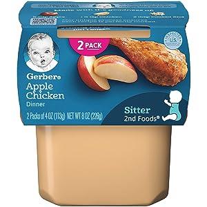 Gerber+2nd+Foods+Apples+%26+Chicken+(Pack+of+10)
