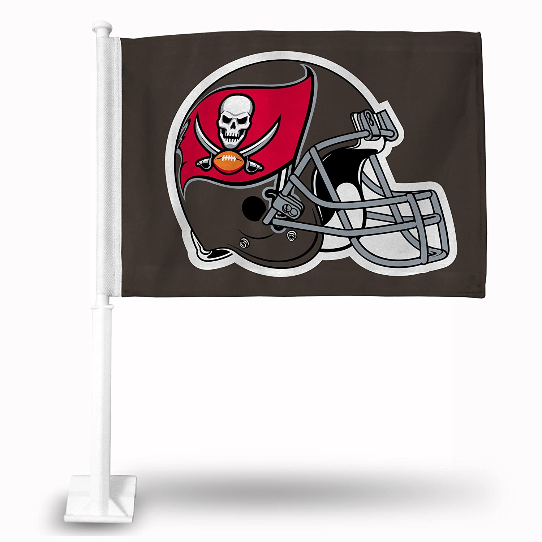 Rico Industries NFL Tampa Bay Buccaneers Car Flag, 19 x 2.5 x 1.75-Inch, White Inc. FG2113