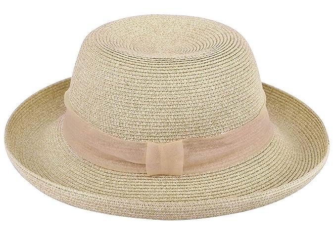 Women's Bucket Straw Sun Hat