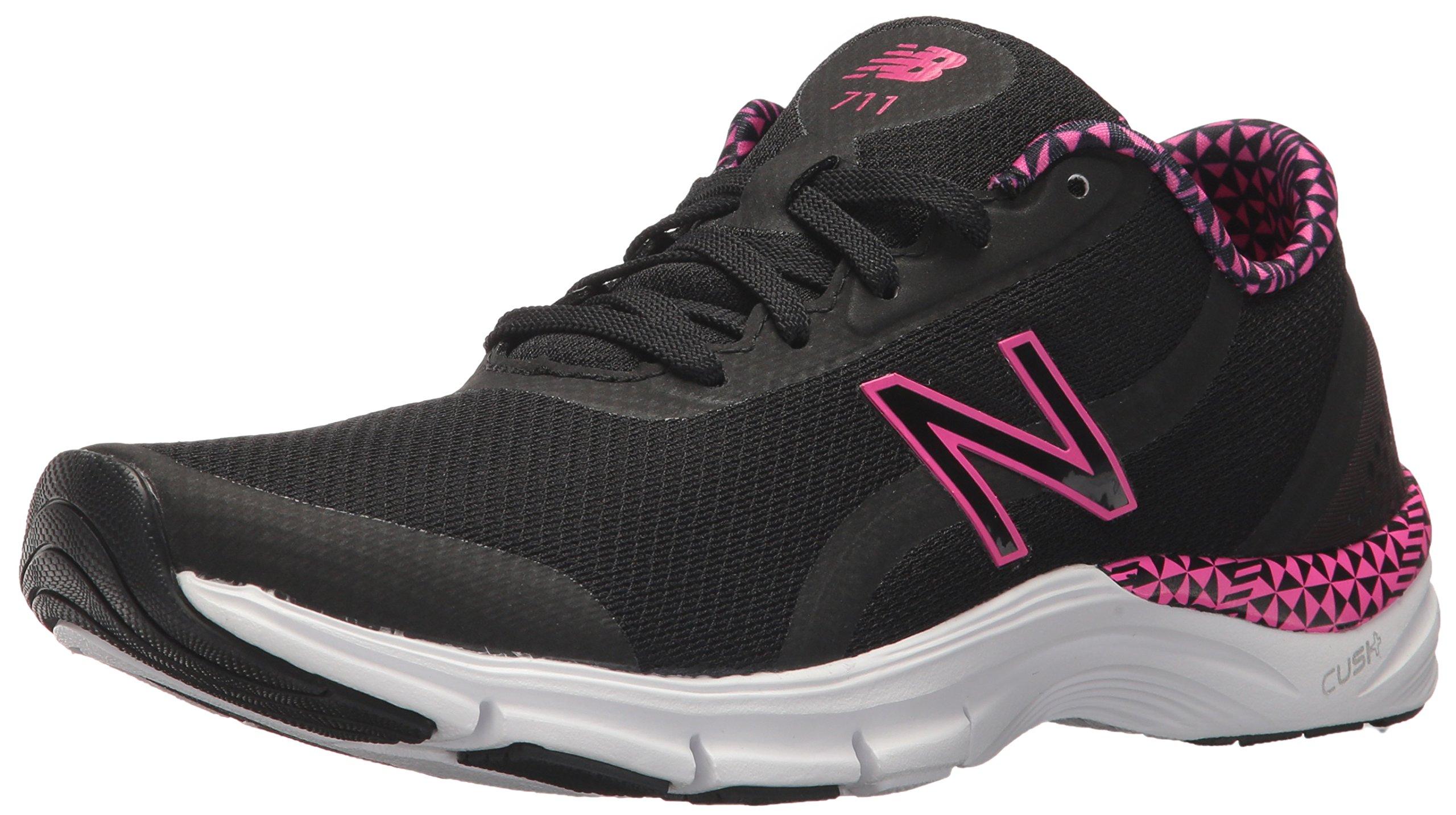 New Balance Women's 711v3 CUSH + Training Shoe, Black, 9 D US
