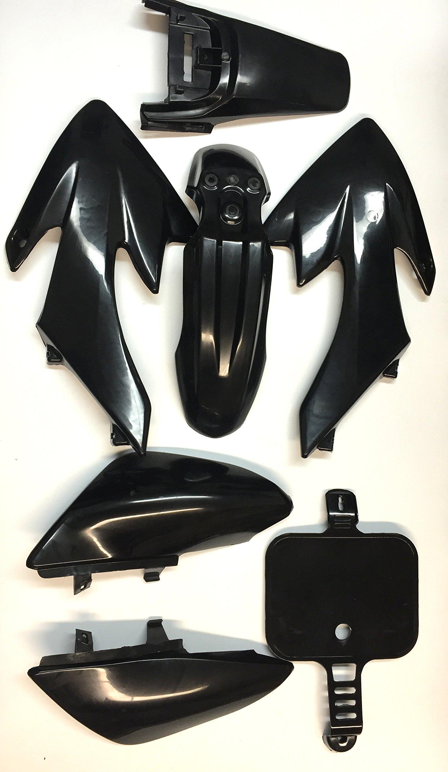 XKMT Group Motorctcly Black Plastic Fender Kit Body Work Fairing Kit For Honda CRF XR XR50 CRF50 Clone 125CC Pit Dirt Bike