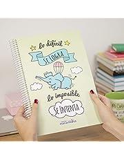 La Mente es Maravillosa - Cuaderno A4 (Lo difícil se logra, lo imposible se