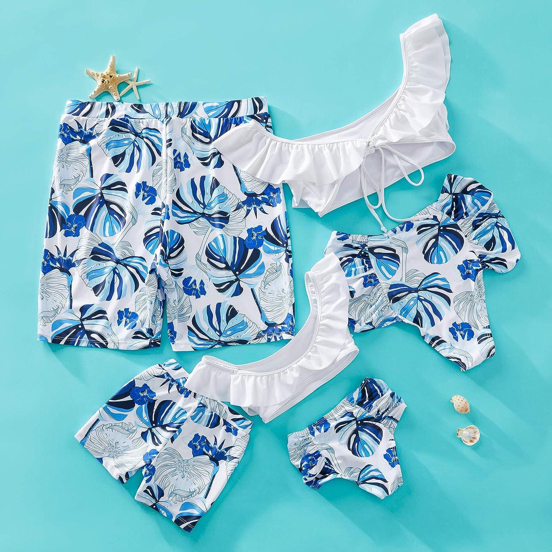 Yaffi Family Swimwear Mommy and Me Matching Two Piece Bathing Suits Bikini Set