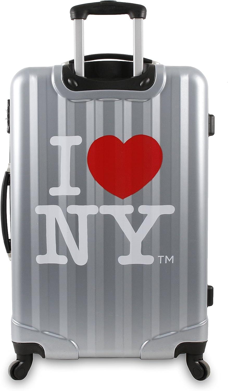 J World New York I Love New York Cityscape 3-Piece Luggage Set