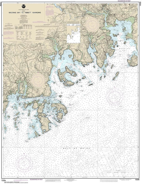 Machias Bay to Tibbett Narrows 34.8 x 45 Paradise Cay Publications NOAA Chart 13326 TRADITIONAL PAPER