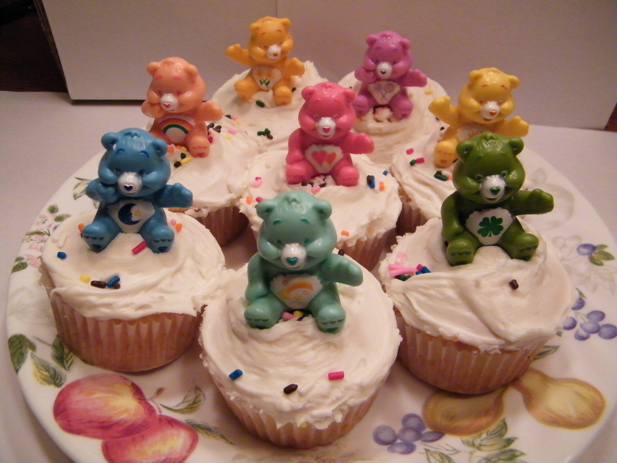 Care Bear Cake Topper / Cupcake Decorations Set of 16