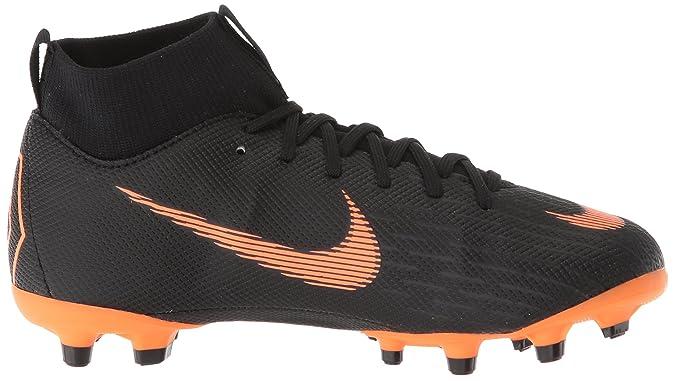 5d37fca76ced Amazon.com | Nike Junior Mercurial Superfly 6 Academy MG Cleats [Black]  (5Y) | Soccer