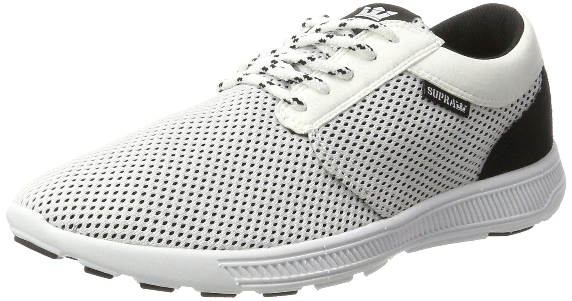 Supra Hammer Run Skate Shoe, White/Black, 13 Regular US