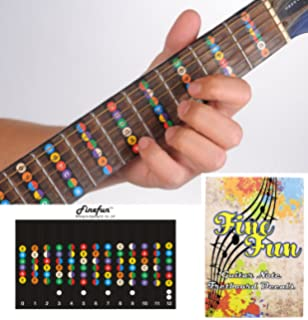 Amazon Com Necknotes Guitar Trainer Color Coded Fretboard Fret