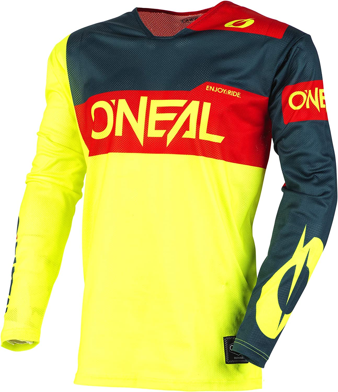 Gray//Blue//Red, L ONeal Airwear Freez Adult Jersey