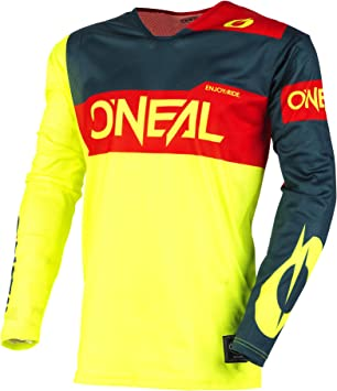 ONeal Unisex-Adult Youthayhem Blocker Jersey Black//Gray//Teal, Small