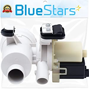 Ultra Durable W10130913 Washer Drain Pump Replacement part by Blue Stars- Exact Fit for Whirlpool Kenmore Maytag Washer- Replaces 8540024 8540025 W10117829