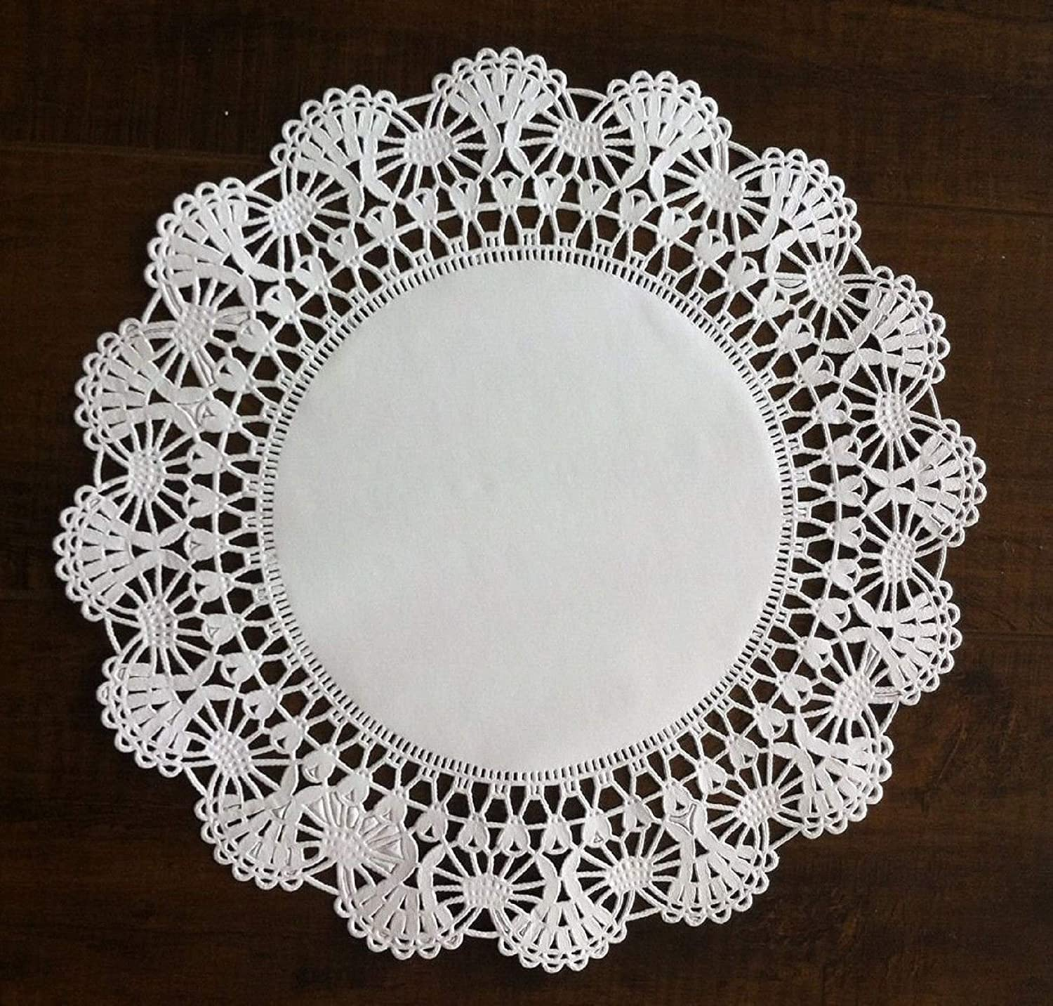pack of 100 25.4cm The Baker Celebrations 10-inch White Round Paper Lace Doilies