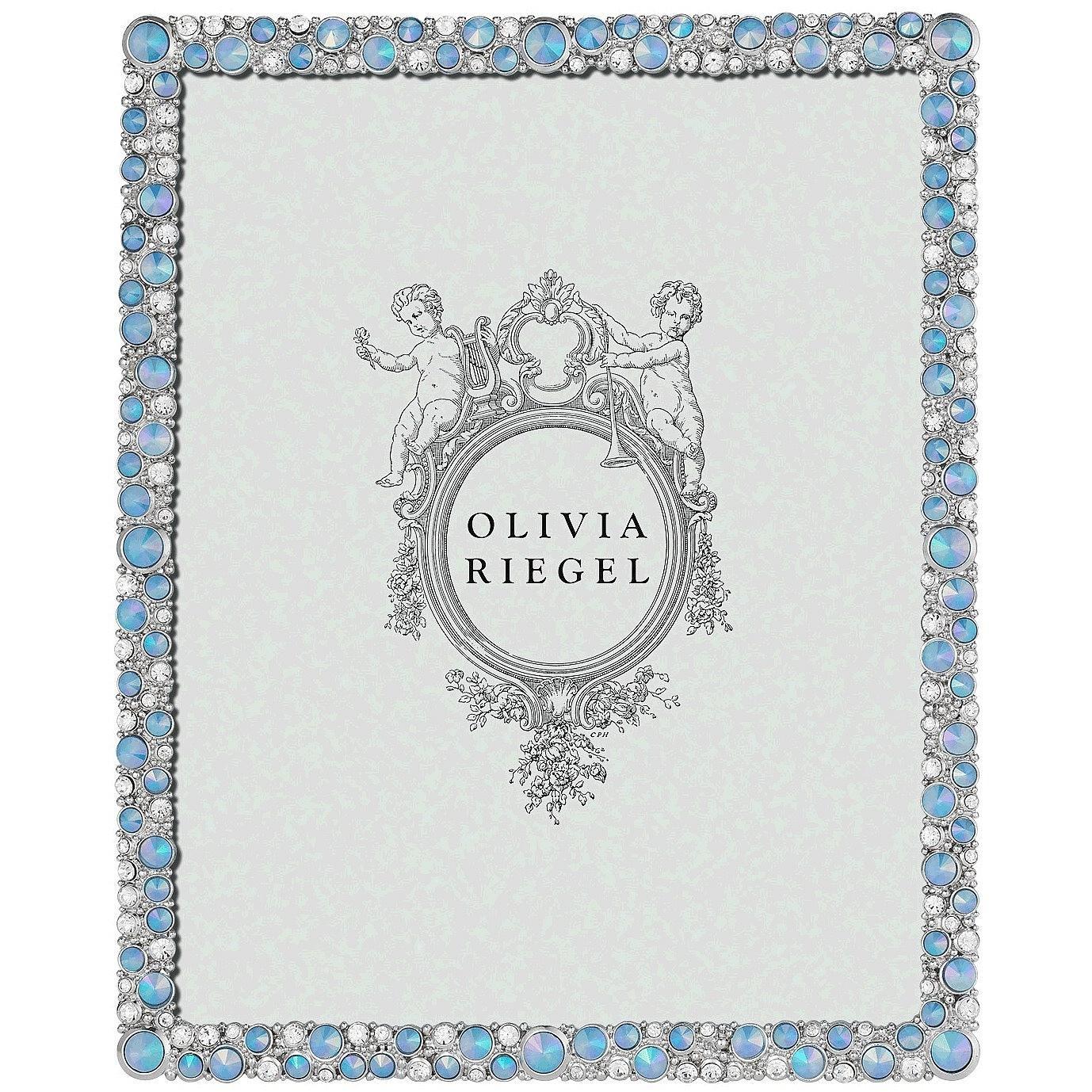 シルバーMcKenzieオーストリアクリスタル&ブルーOpaline 8 x 10フレームby Olivia Riegel – 8 x 10 B01D5U0IEY