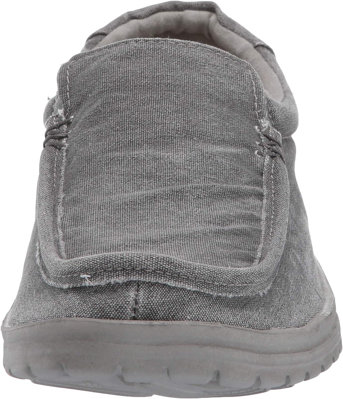 Dude Shoes Hommes Mikka Stretch en D/étresse en Carbone Lav/é Toile