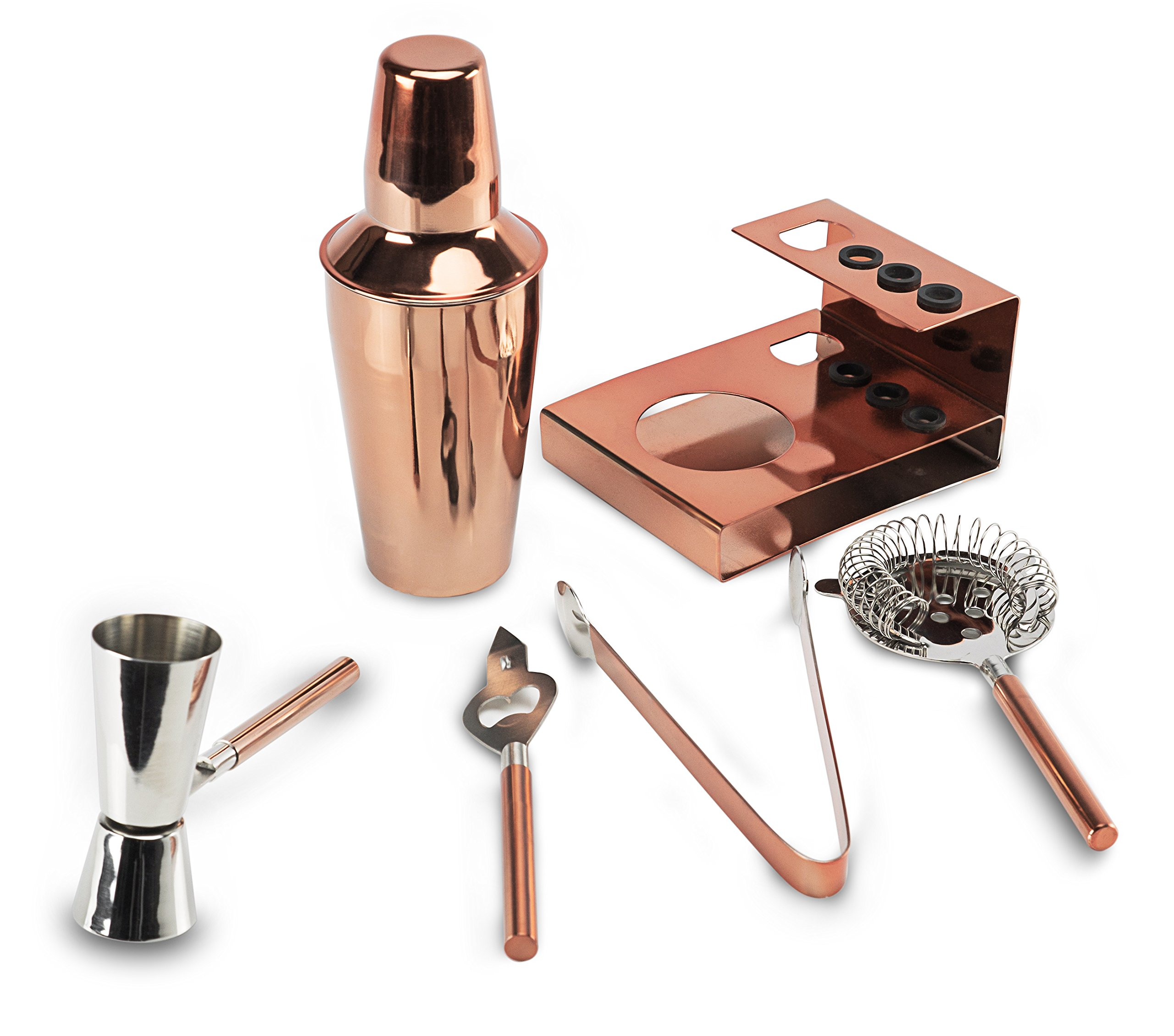 Miko Premium Cocktail Bar Set, High Grade Stainless Steel 6 Piece Set, Made In India (Rose Gold) by Miko (Image #2)