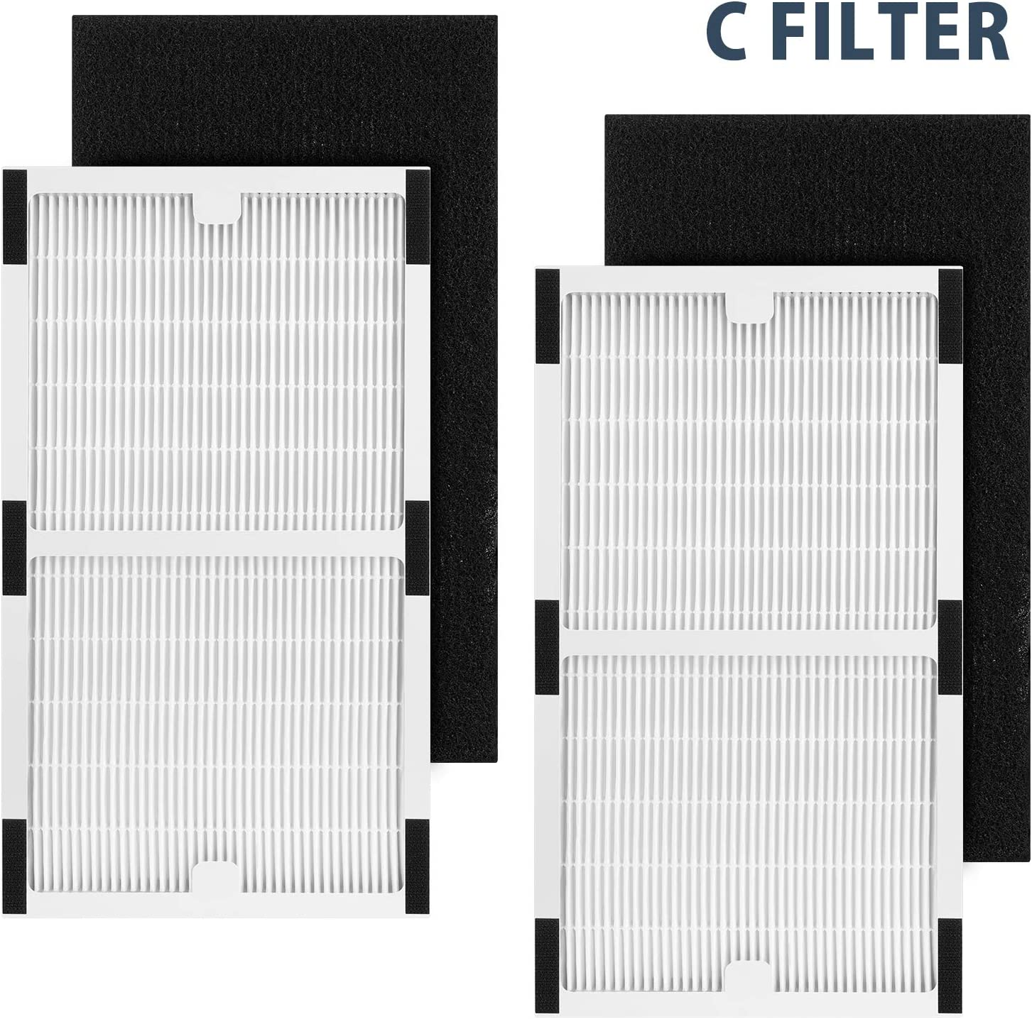 isinlive 2 Pack Idylis IAF-H-100C Hepa Replacement Filter C Filters for Idylis Air Purifiers IAP-10-200, IAP-10-280, Model # IAF-H-100C Includes 2 Idylis Type C Hepa Filter & 2 Carbon Pre-Filter