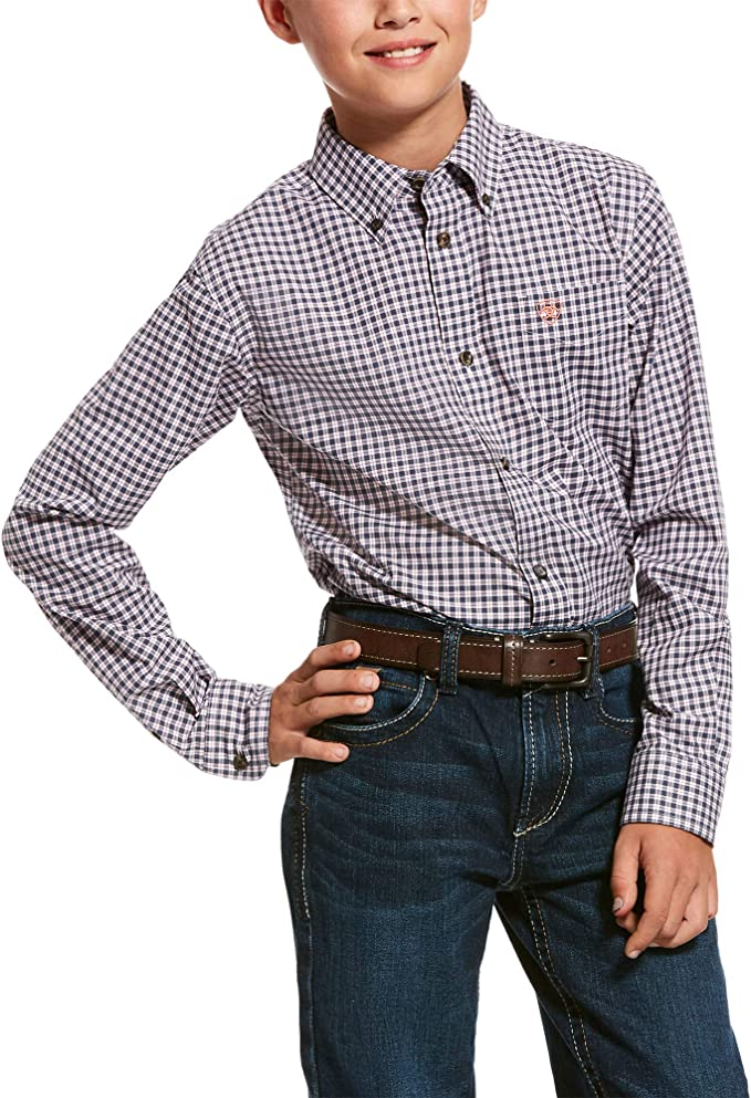 ARIAT Mens Pro Series Umber Stretch Classic Fit Shirt