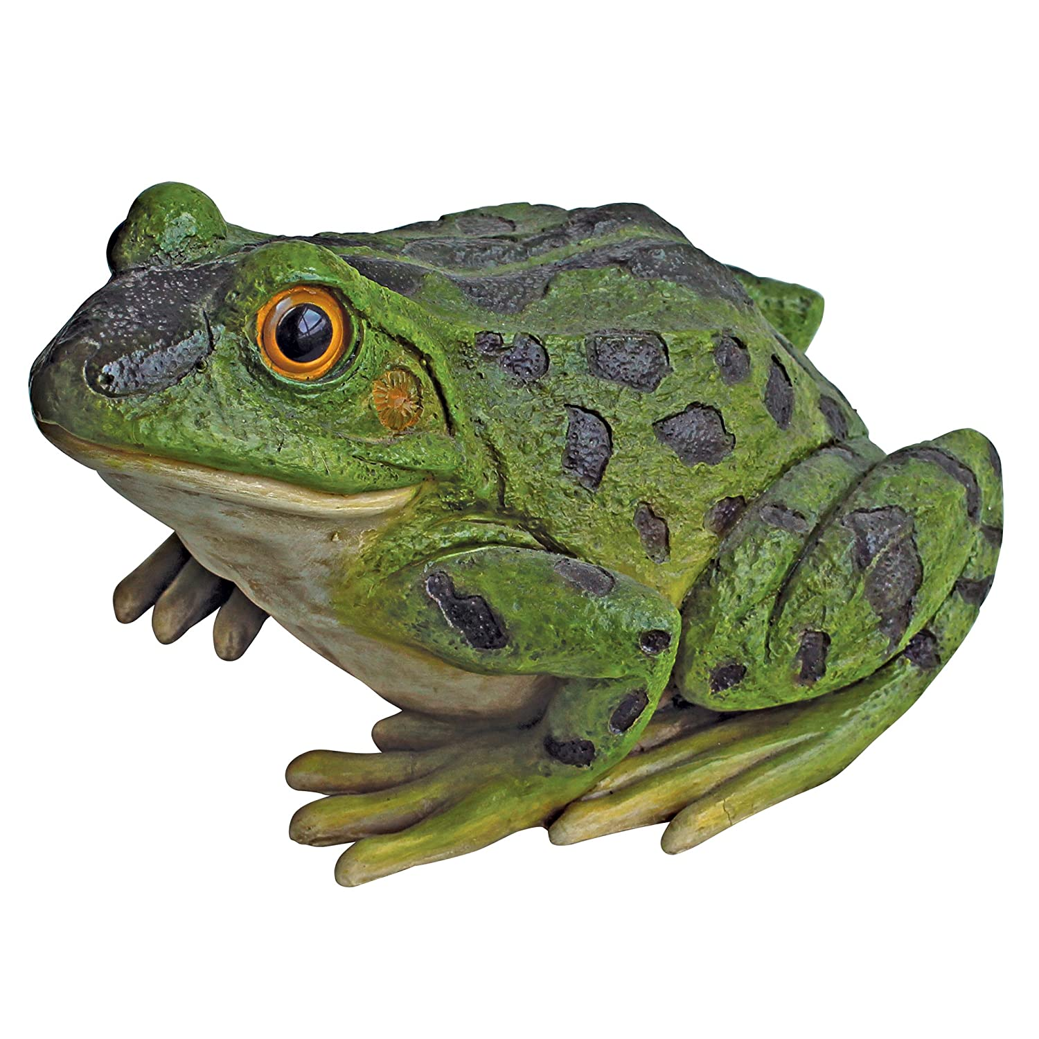 Design Toscano Ribbit The Frog Garden Toad Statue, 9 Inch, Polyresin, Full Color