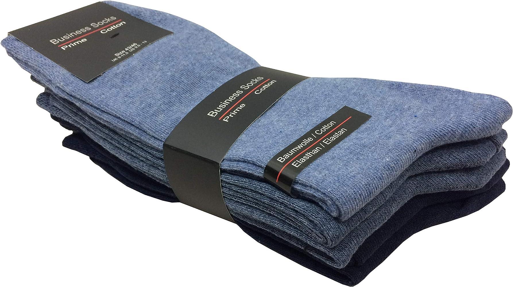 K-Milano - 5 pares de calcetines para hombre, de algodón y elastano, aptos para secadora Azul marino. 39-42: Amazon.es: Ropa y accesorios