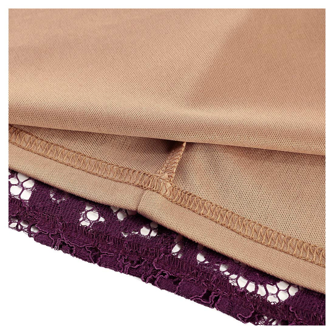 02d01f87c MISSMAY Women s Vintage Full Lace Contrast Bell Sleeve Formal Long Maxi  Dress