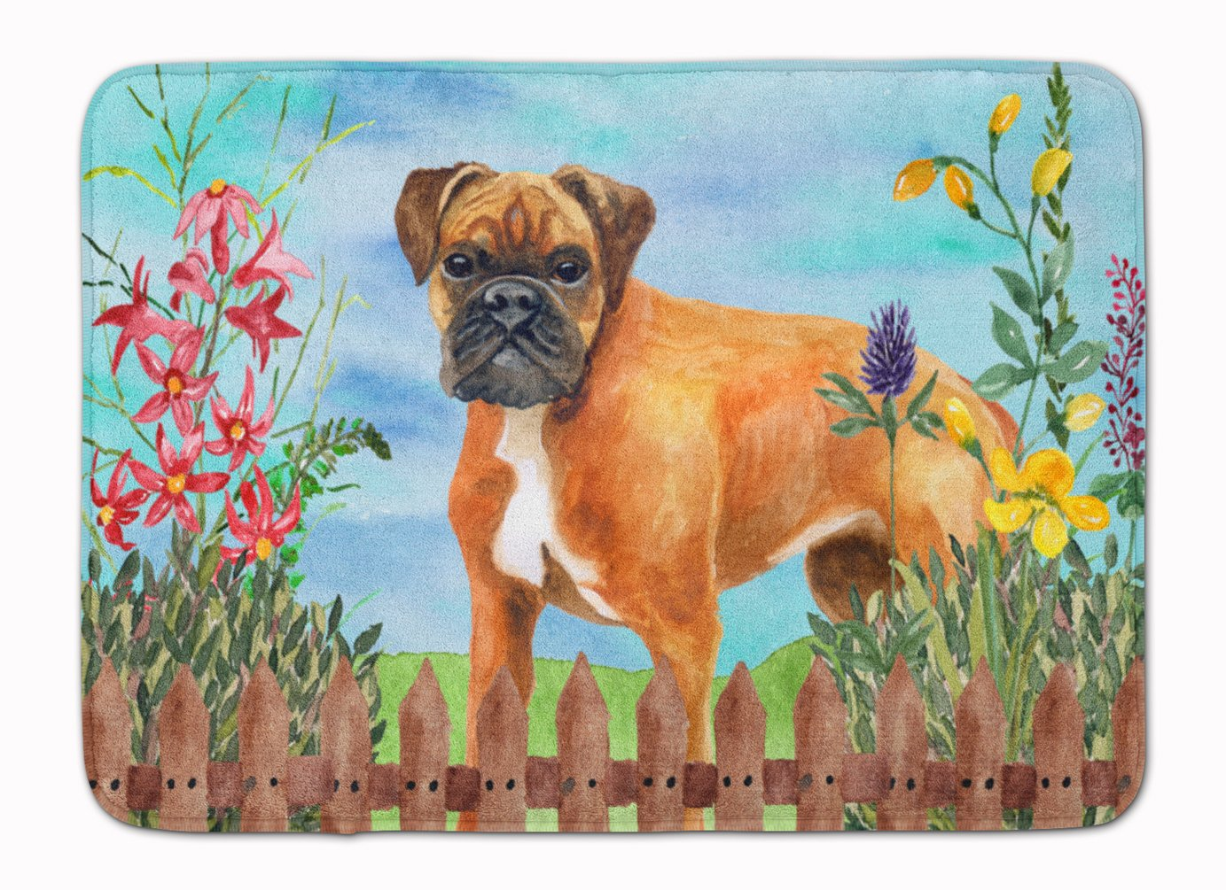 Carolines Treasures German Boxer Spring Floor Mat 19 x 27 Multicolor