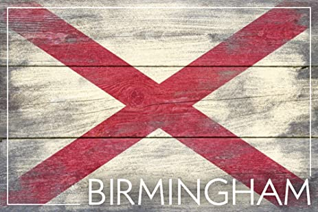 alabama com amazon print birmingham flag gallery rustic state dp giclee wall decor