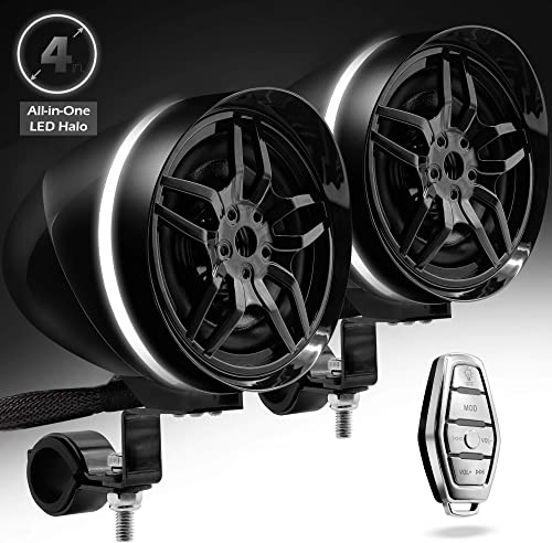 Gohawk AR4 Halo Motorcycle Stereo Speakers