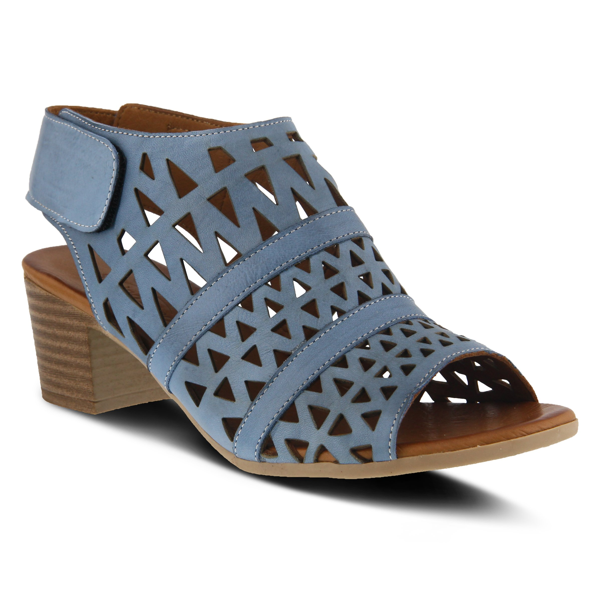 Spring Step Women's Style Dorotha Blue EURO Size 37 Leather Sandal