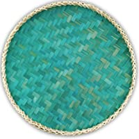 Ann Lee Design Round Serving Trays (Teal Pine Green)