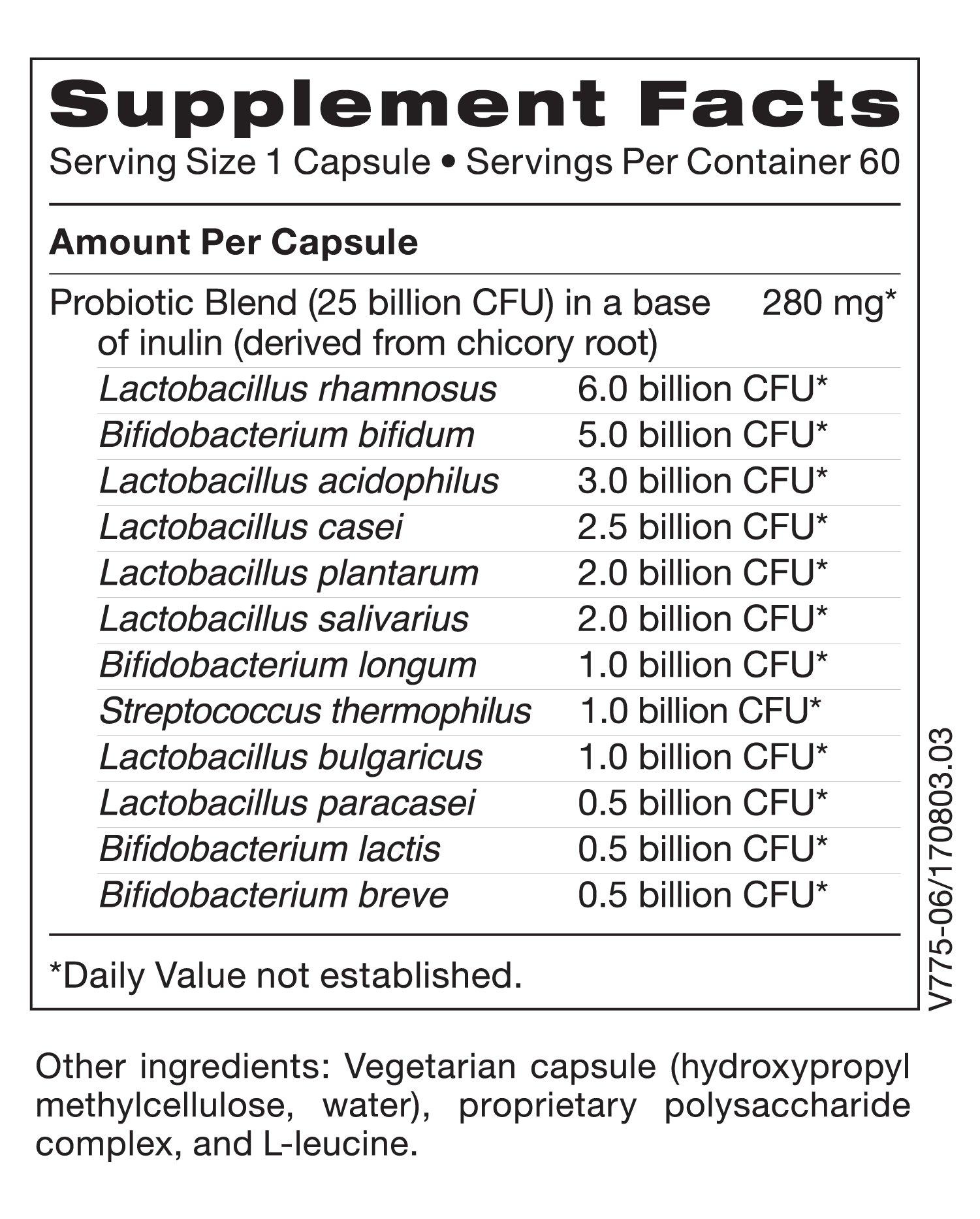 Klaire Labs Ther-Biotic Complete Probiotic - 25 Billion High CFU Blend, The Original Hypoallergenic Probiotic for Men & Women, Dairy-Free (60 Capsules) by Klaire Labs (Image #6)