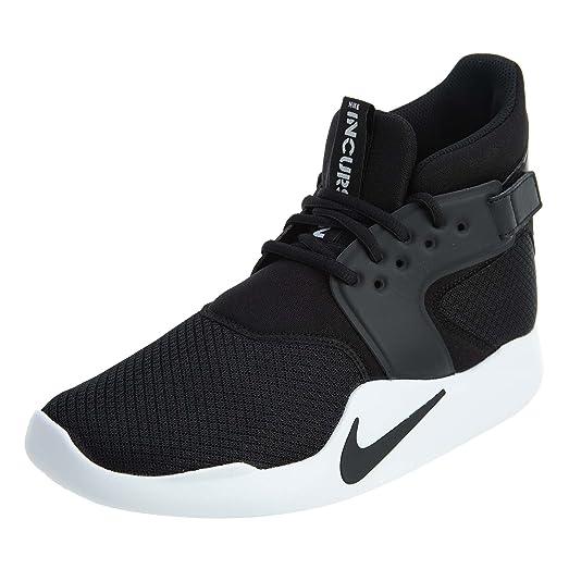 Nike Men's Incursion Mid-Top Shoe, 917541-001 Black/Black/White