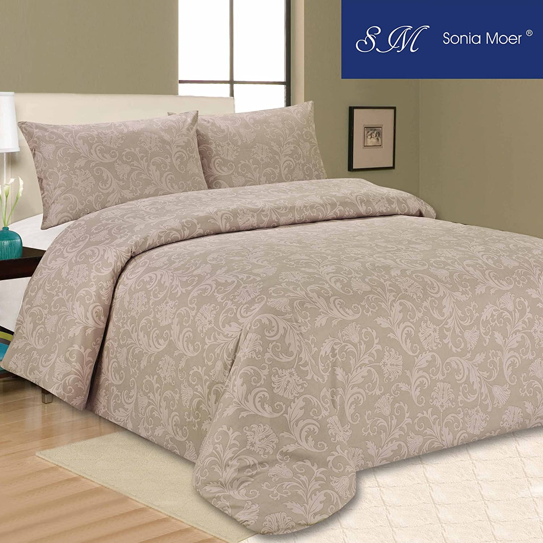 Sonia Moer Premium Duvet Cover Set - Browns Books (Double) Sonia Linens Ltd