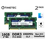 Timetec Hynix IC Apple 16GB Kit (2x8GB) DDR3 PC3-8500 1066MHz Memory Upgrade for MacBook 13-inch Mid 2010, MacBook Pro 13-inch Mid 2010, iMac 27-inch Late 2009, Mac Mini Mid 2010 (16GB KIT(2x8GB))