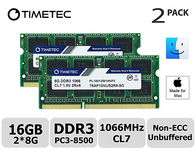 Timetec Hynix IC Apple 16GB Kit 2x8GB DDR3 PC3 8500 1066MHz Memory Upgrade for MacBook Pro 13-inch Mid 2010 Mac Mini Mid 2010 and More Memory at amazon