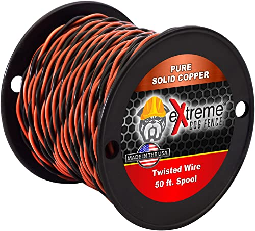 Extreme Dog Fence 16 Gauge Transmitter Wire – Pre-Twisted in Multiple Lengths – Compatible with All Wired Electric Dog Fence Systems