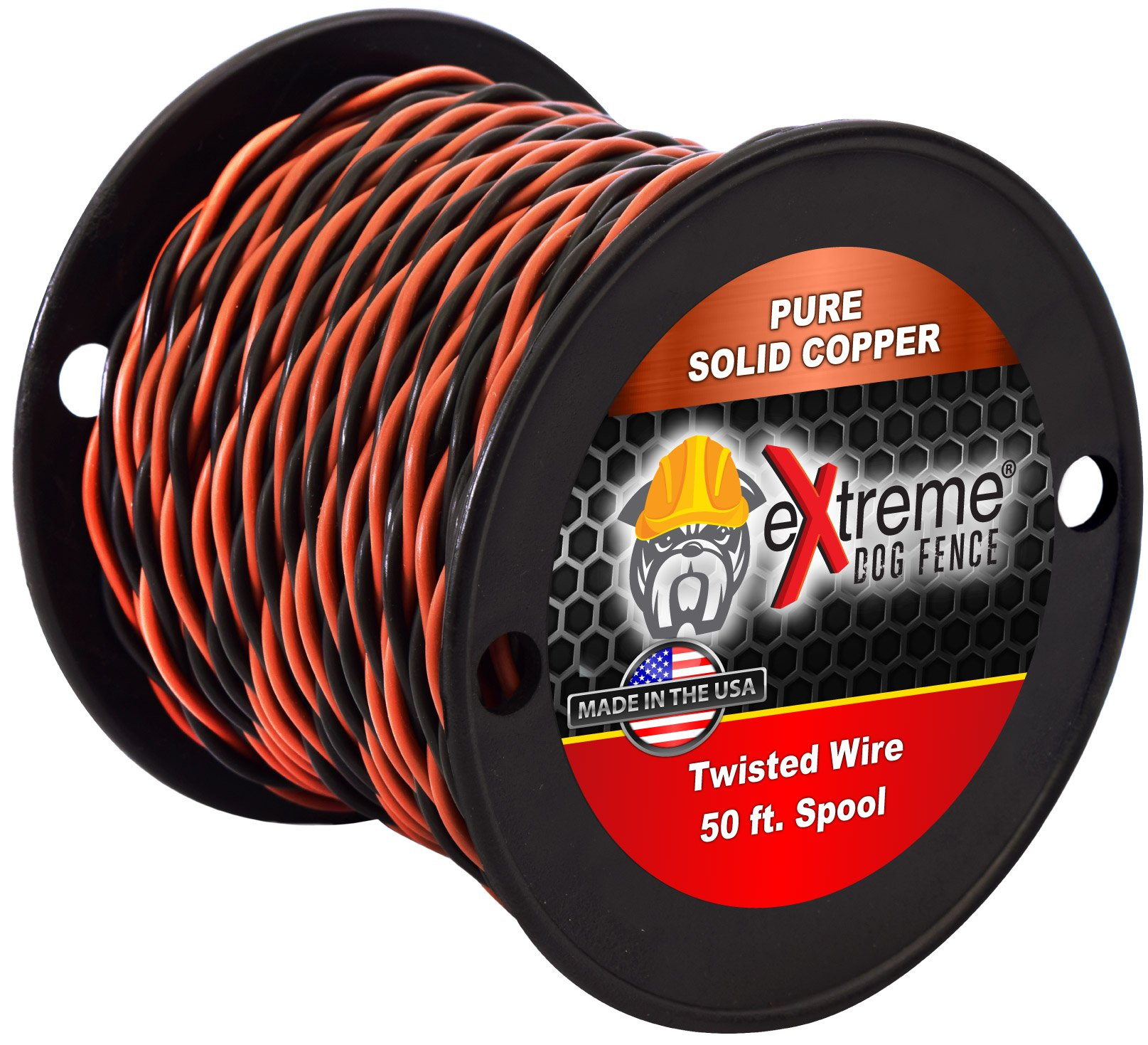 Extreme Dog Fence 16 Gauge Transmitter Wire - 50 Foot Spool of Pre-Twisted Cable - Compatible With All Wired Electric Dog Fence Systems by Extreme Dog Fence