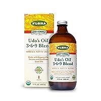 FLORA - Udo's Choice, Omega 369 Oil Blend, Brain Health, 17 Fl Oz