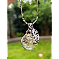 Collar de diente de león de plata esterlina 925 dije hoja de plata Caja de regalo cadena Joyería de la flor Colgante de…