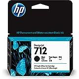 HP 712 Black 38-ml Genuine Ink Cartridge (3ED70A) for DesignJet T650, T630, T230, T210 & Studio Plotter Printers