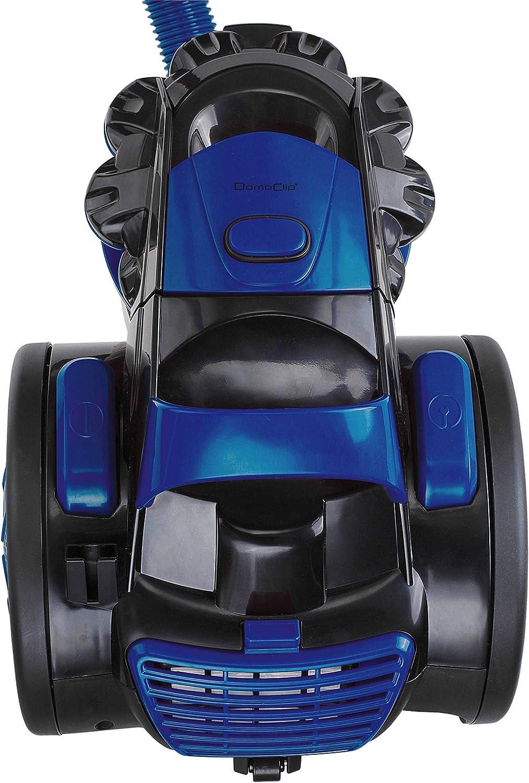 DOMOCLIP DOH118B Aspirateur Multi-cyclonique sans Sac Bleu et Gris
