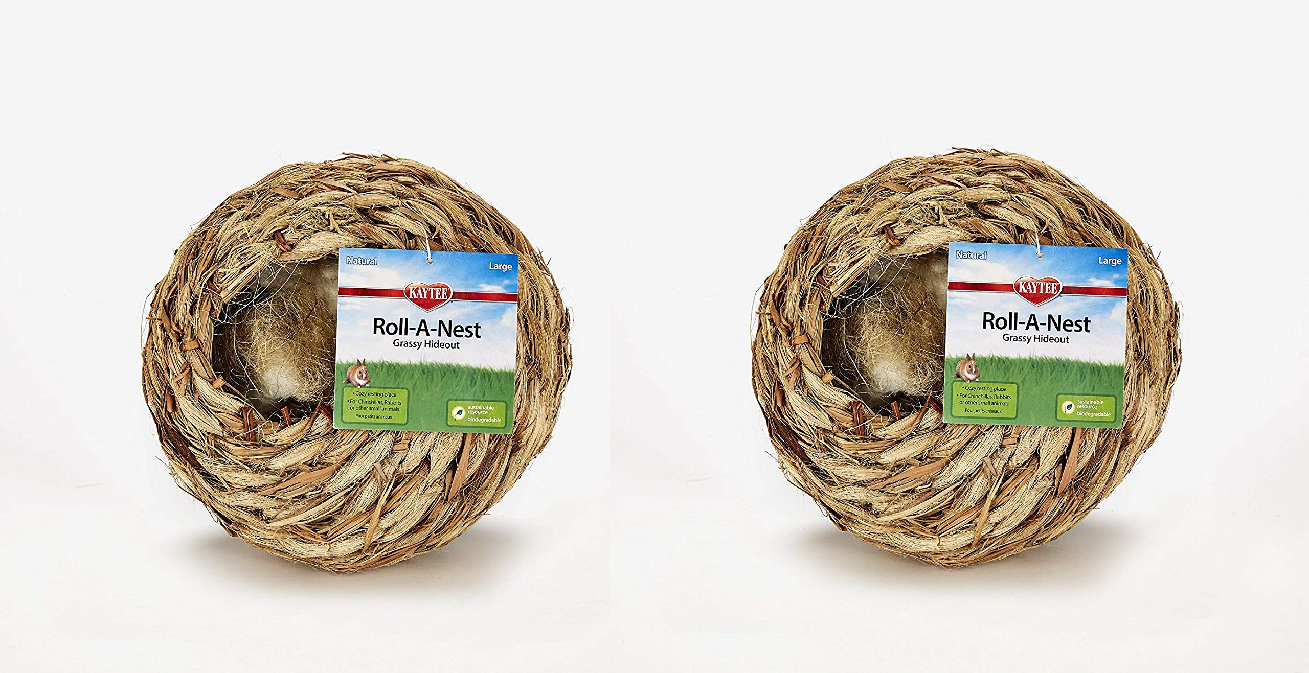 Kaytee 2 Pack of Guinea Pig Grassy Roll-a-Nest Hideout