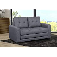 US Pride Furniture S5331 Daisy Modern Fabric Loveseat and Sofa Bed