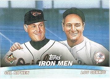 2001 Topps Combos #TC16 Ironmen Lou Gehrig/Cal Ripken Jr at Amazon's Sports  Collectibles Store