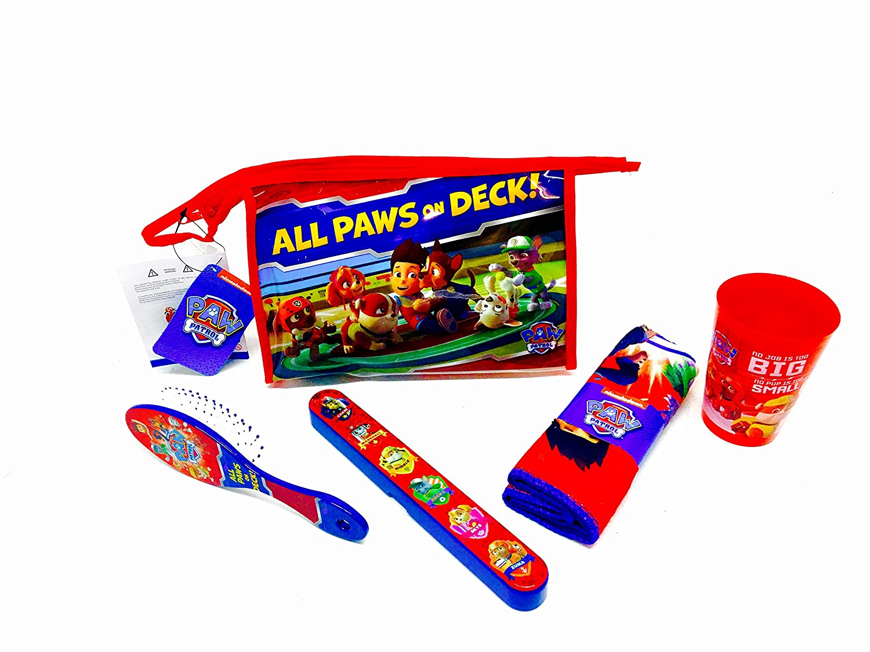 Paw Patrol Set Neceser Dientes Luminoso, Pelo, Vaso, toallita y Caja para Cepillo, Rojo, 23 x 8 x 15 cm: Amazon.es: Hogar